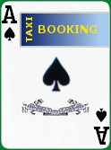Play the ace of spades to book a taxi 24h-24h